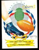 1951 8/15 Los Angeles Rams vs Washington Redskins Football program