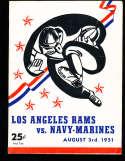 1951 8/3 Los Angeles Rams vs Navy-Marines Football program