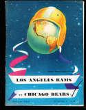 1949 10/8 Los Angeles Rams vs Chicago Bears Football program