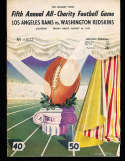 1949 8/26 Los Angeles Rams vs Washington Redskins Football program;