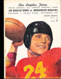 1947 9/5 Los Angeles Rams vs Washington Redskins Football program; rolled spine
