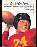 1947 9/5 Los Angeles Rams vs Washington Redskins Football program; em