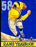1958 Los Angeles Rams Football Yearbook em
