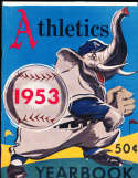 1953 Philadelphia Athletics Baseball Yearbook nm bxb1