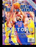 2003 Sports Illustrated Presents no label Detroit Pistons NBA champs