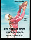 1956 11/4  Los Angeles Rams vs chicago Bears Football Program