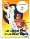 1957 9/29  Los Angeles Rams vs Philadelphia Eagles Football Program