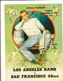 1957 11/10  Los Angeles Rams vs San Francisco 49ers  Football Program