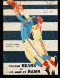 1960 10/9  Los Angeles Rams vs chicago Bears Football Program