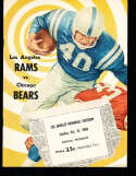 1960 10/23  Los Angeles Rams vs chicago Bears Football Program & play by Play