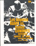 1964 8/22  Los Angeles Rams vs Dallas Cowboys Football Program played Portland