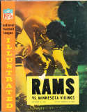 1964 9/27  Los Angeles Rams vs Minnesota Vikings Football Program