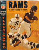 1964 10/18  Los Angeles Rams vs San Francisco 49ers Football Program ex