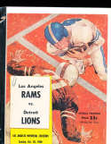1960 10/30  Los Angeles Rams vs Detroit Lions Football Program 12253