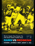 1962 8/11  Los Angeles Rams vs Washington Redskins Football Program corner crease