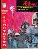 1962 9/8  Los Angeles Rams vs Washington Redskins Football Program