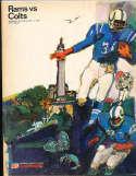 1964 12/17  Los Angeles Rams vs Baltimore Colts Football Program
