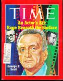 George Scott 1971 3/22 Time Magazine em