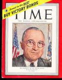 Harry Truman 1945 4/21 President Time Magazine em