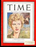 Ingrid Bergman 1943 8/2 Time Magazine em