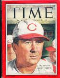 1957 7/8 Birdie Tebbetts Reds  Time Magazine