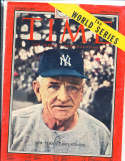 1955 10/3 Casey Stengel New York Yankees Time Magazine Pacific edition