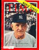1955 10/3 label Casey Stengel New York Yankees Time Magazine Pacific edition