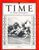 1933 11/13 Football Players  Time Magazine