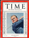 1938 6/6 Johnny Goodman Golfer Time Magazine