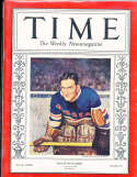1938 3/14 Dave Kerr Rangers Hockey Time Magazine