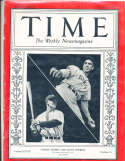1936 10/5 Lou Gehrig & Carl Hubbell Time Magazine
