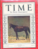 1934 8/20 Cavalcade horseracing Time Magazine
