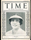 1926 7/26 Helen Wills Tennis Time Magazine
