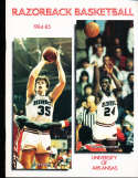 1984 Arkansas Joe Kleine Basketball Press Media Guide