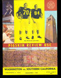 1962 11/3 Washington vs USC Football Program hole punch