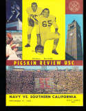 1962 11/17 Navy vs USC Football Program