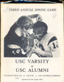 1963 5/11 USC varisity vs alumni Football Program rare