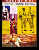 1963 10/19 Ohio State vs USC Football Program & Press Notes
