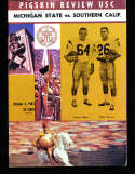1963 10/4 Michigan State vs USC Football Program & Press Notes