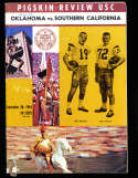 1963 9/28 Oklahoma  vs USC Football Program