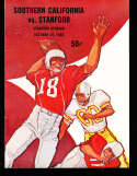 1960 10/29 Stanford vs USC Football Program