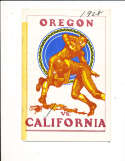 1928 11/3 Oregon vs California Football Program