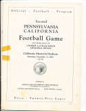 1927 12/31 Pennsylvania vs California Football Program