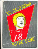 1959 11/28  USC vs Notre Dame Football Program