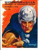 1946 10/5 Washington vs UCLA Football Program