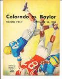 1959  9/26 Colorado vs Baylor Football Program