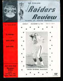 1963 12/15 Oakland Raiders vs Denver Broncos Football Program rare!