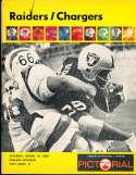 1968 8/10 Oakland Raiders vs San Diego Chargers football program