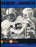 1967 8/5 Oakland Raiders vs San Francisco 49ers football program & play by play press notes
