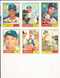 Norm Larker #130  Los Angeles Dodgers 1961 Topps SIGNED